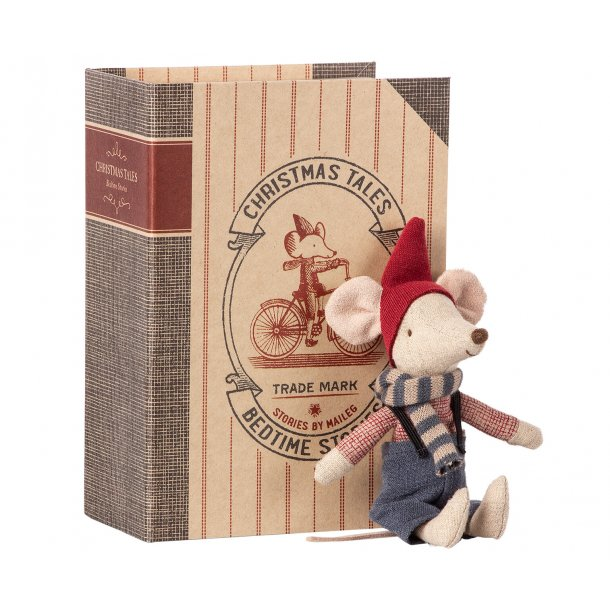 Maileg: Christmas Mouse in Book, big brother