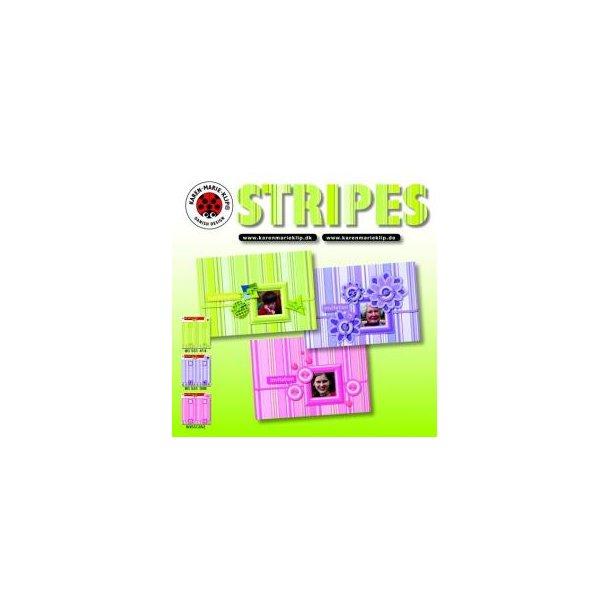 Karen Marie Klip: Gratis folder - Stripes