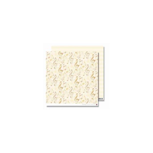 Karen Marie Klip: Scrapbookingark - Ivory Notes