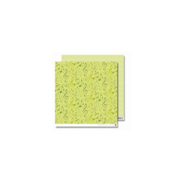 Karen Marie Klip: Scrapbookingark - Green Notes