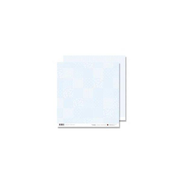 Karen Marie Klip: Scrapbookingark - Blue Patchwork & Stripes