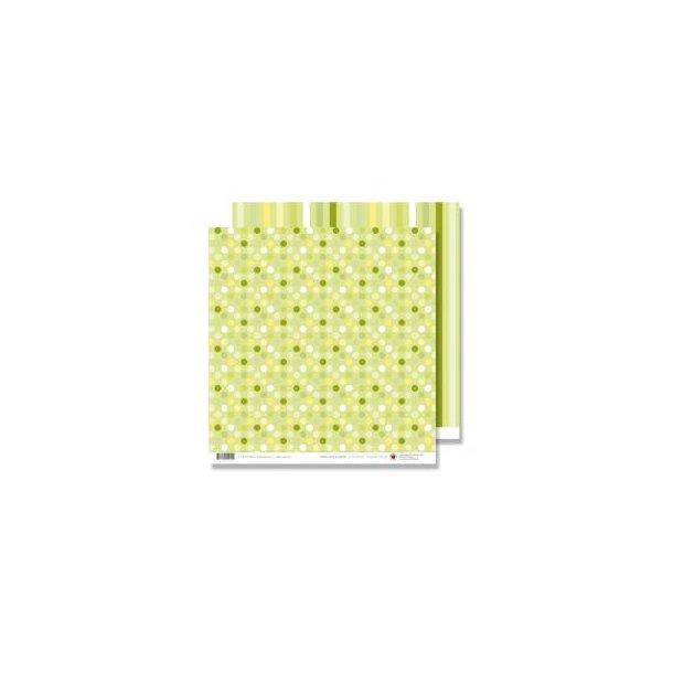 Karen Marie Klip: Scrapbookingark - Green Dots & Stripes