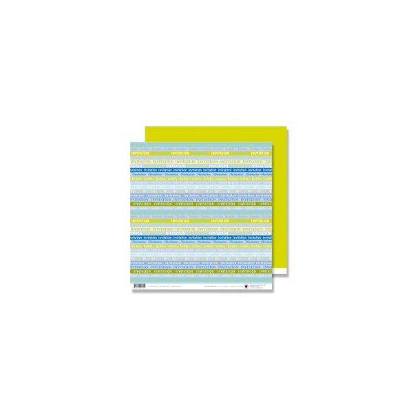 Karen Marie Klip: Scrapbookingark - Invitation Blue