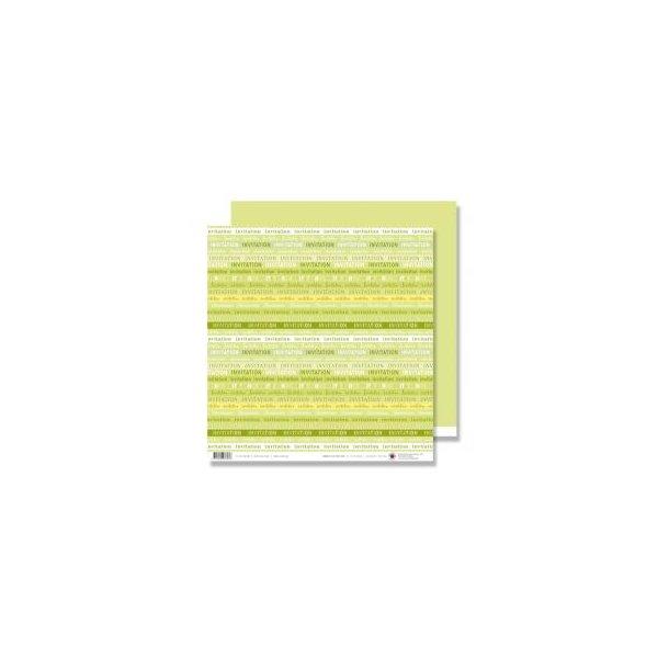Karen Marie Klip: Scrapbookingark - Invitation Green