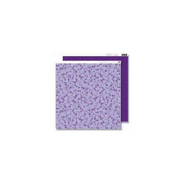 Karen Marie Klip: Scrapbookingark - Lilac Mini Flowers