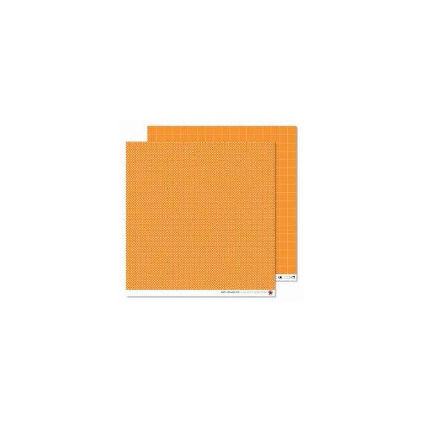 Karen Marie Klip: Scrapbookingark - White & Orange Dots
