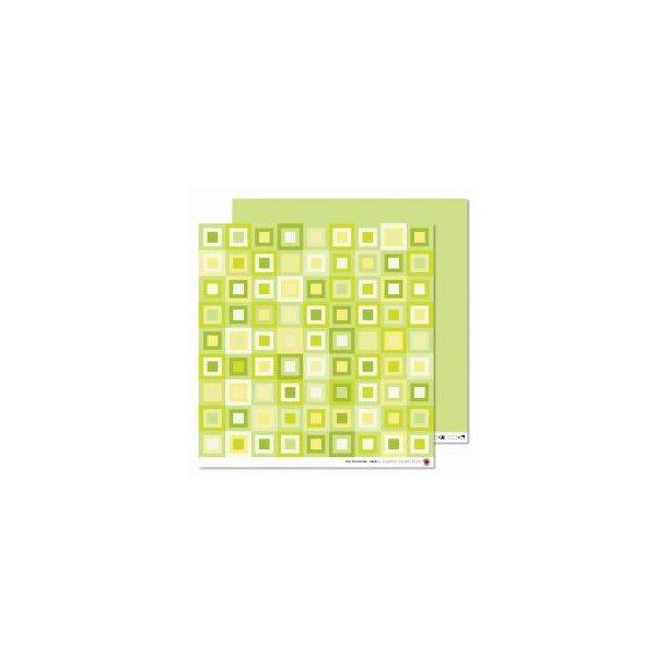 Karen Marie Klip: Scrapbookingark - Tiny Patchwork Green
