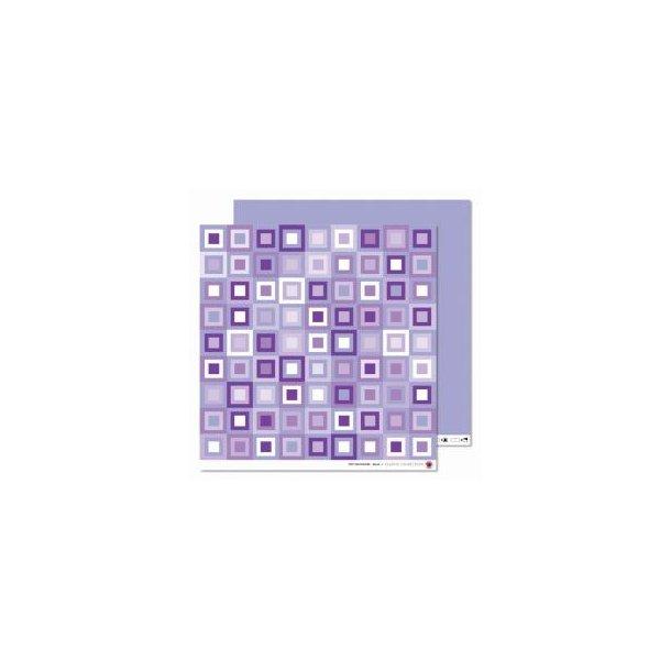 Karen Marie Klip: Scrapbookingark - Tiny patchwork, lilac